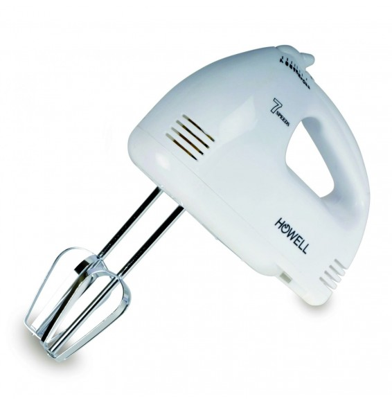 Howell Electric Hand Mixer 4 Whips White