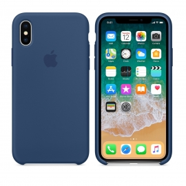 Cover I Phone X Apple Originale Blu cobalto