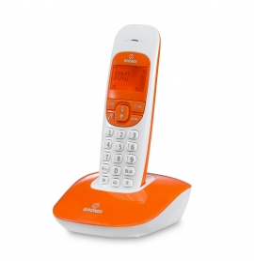 Telefono Cordless Vivavoce Brondi colore Arancione/Bianco Nice
