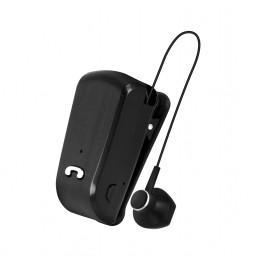 Auricolare Bluetooth Wireless Senza Fili filo retrattile Nero Area BACK3