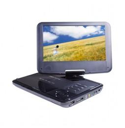 """LETTORE DVD MPEG4 PORTATILE CON SCHERMO 9"""" LCD GIREVOLE 90° / 180°"""